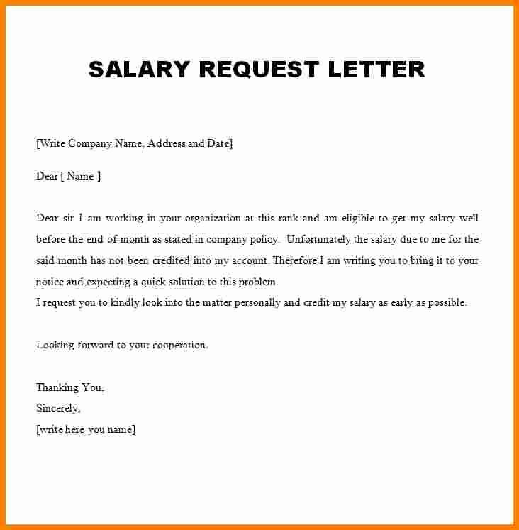 Salary Request Letters Lovely 7 Request Letter for Salary Increment Pdf