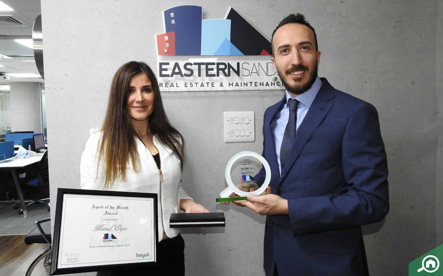 Salesman Of the Month Award Awesome Eastern Sands Real Estate Wins Bayut Award for Dec 18