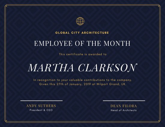 Salesman Of the Month Award Beautiful Customize 1 508 Employee the Month Certificate