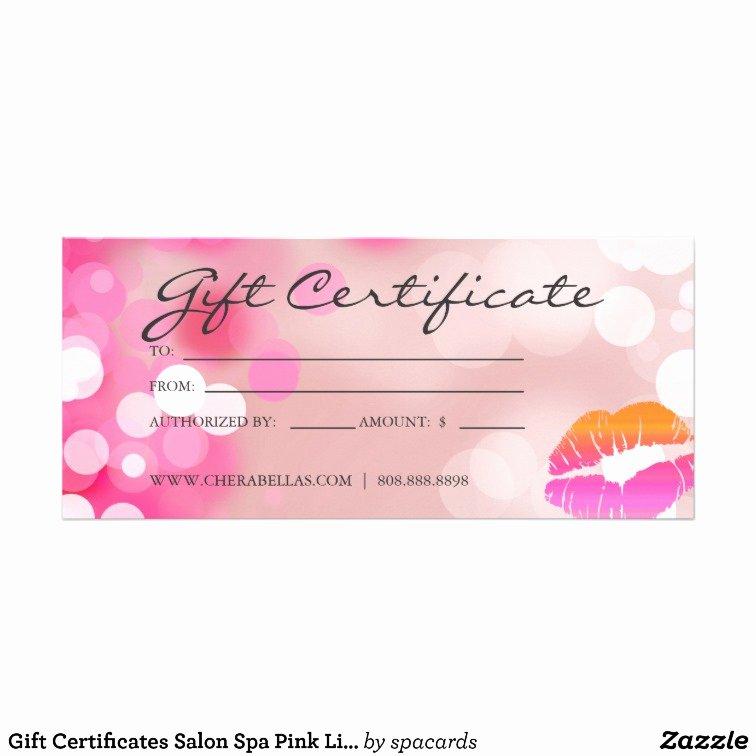 Salon Gift Certificate Template Beautiful Salon Gift Certificate Template Gift Ftempo