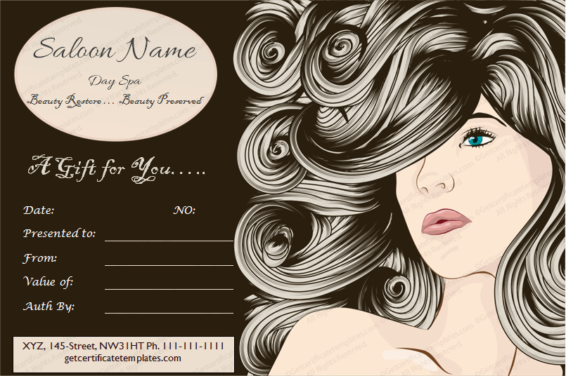 Salon Gift Certificate Template Free Awesome 5 Spa Gift Certificate formats to Grow Business Dotxes