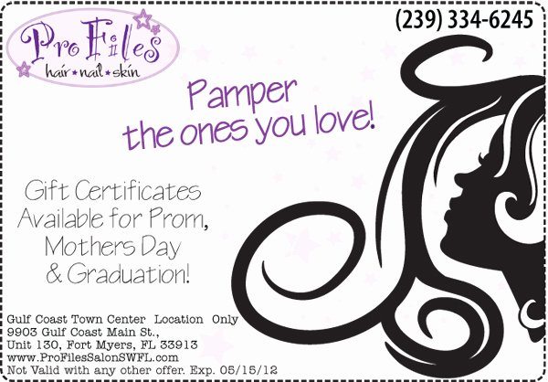 Salon Gift Certificate Template Free Inspirational April Specials