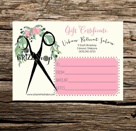 Salon Gift Certificate Template Free Printable Awesome Set Of 50 Salon Gift Certificates