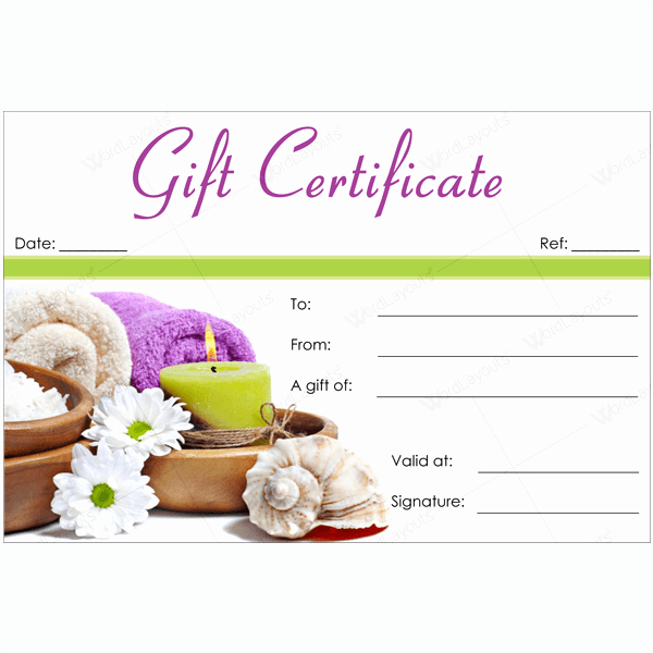 Salon Gift Certificate Template Free Printable Elegant 50 Spa Gift Certificate Designs to Try This Season