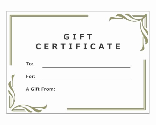 Salon Gift Certificate Template Free Printable Lovely Julia Blank Personal Stylist and Image Consultant