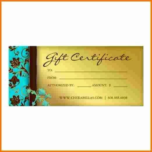 Salon Gift Certificate Template Lovely Salon T Certificate Template