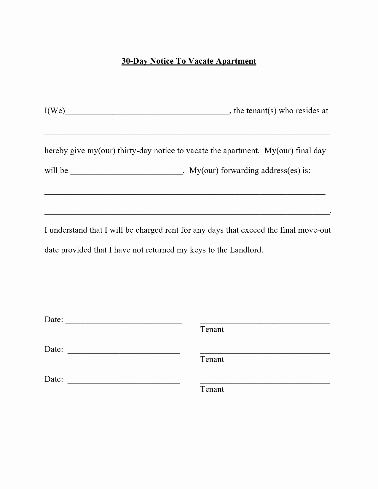 Sample 30 Day Notice to Landlord California Best Of Best S Of 30 Day Notice Template 30 Day Notice