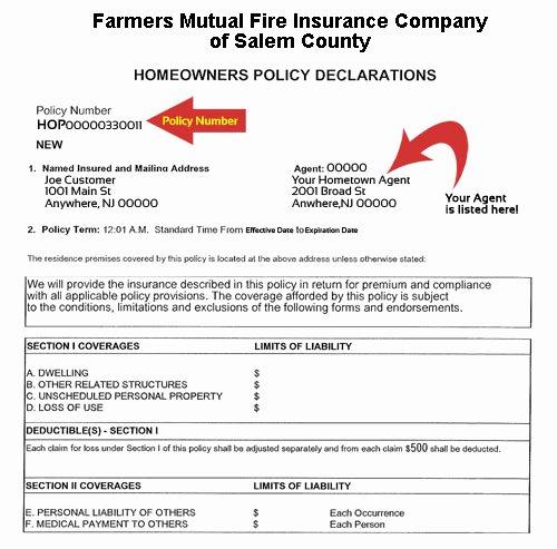 Sample Auto Insurance Card Unique Farmers Salem Contact Us