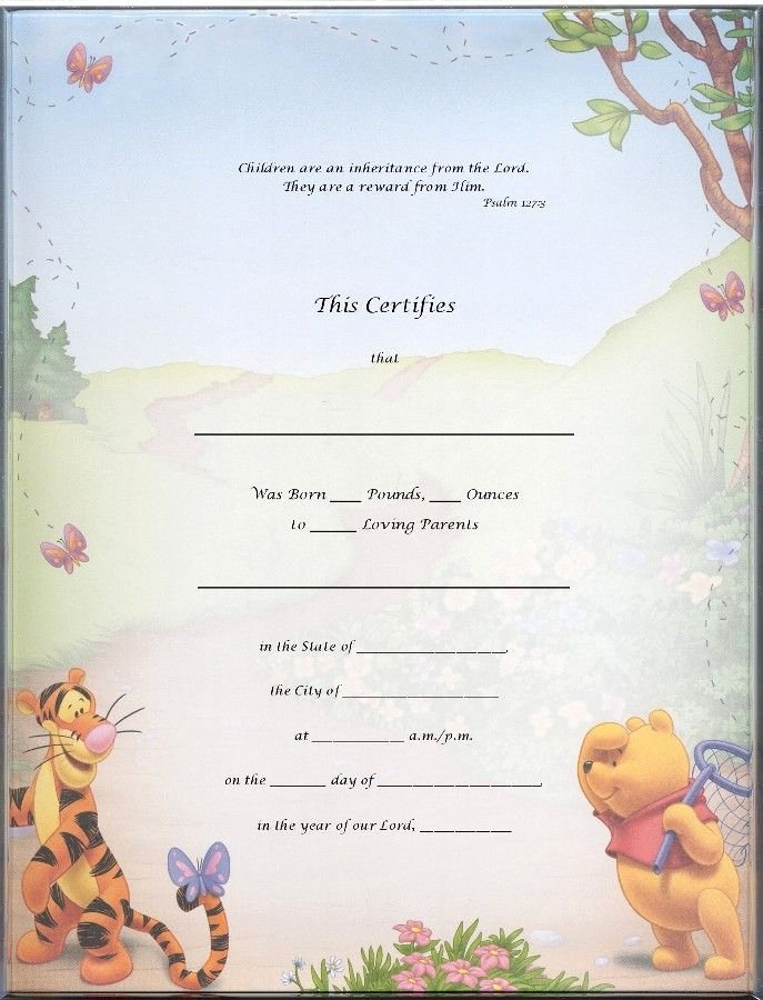 Sample Blank Birth Certificate Awesome Blank Certificate Templates Kiddo Shelter