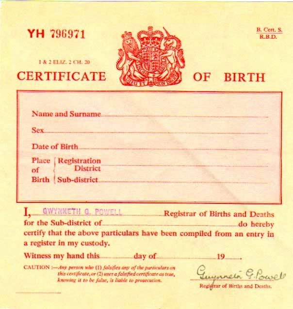 Sample Blank Birth Certificate Inspirational Birth Certificate Uk