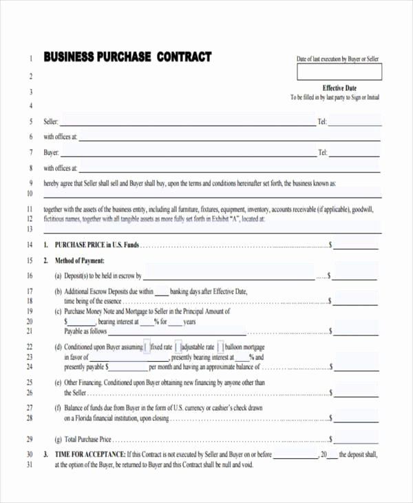 Sample Business Contracts Inspirational Free 9 Sample Business Contract forms In Pdf