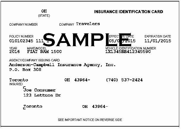 Sample Car Insurance Card Awesome Proof Insurance – Approved Auto Blog
