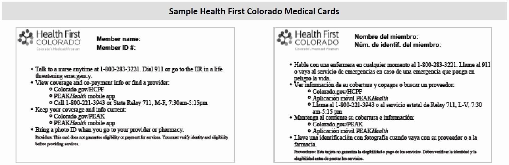 Sample Car Insurance Card Best Of How Do I Print A Health First Colorado Medical Card