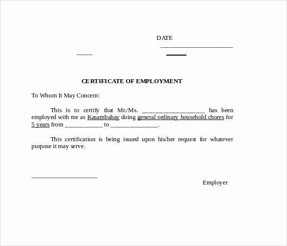 Sample Certificate Of Employment Awesome Word Certificate Template 19 Documents In Word Ai Psd