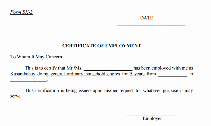 Sample Certificate Of Employment Fresh 11 Certificate Employment Samples Word Excel Samples
