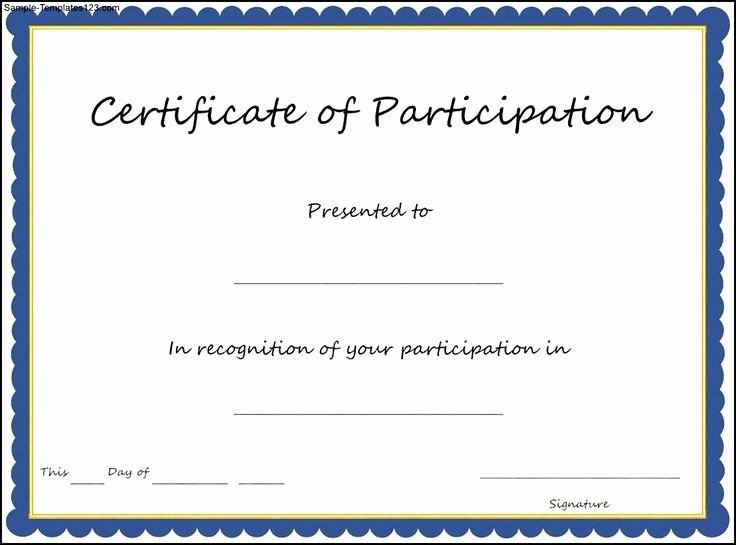 Sample Certificate Of Participation Template Best Of Best 25 Certificate Of Participation Template Ideas On