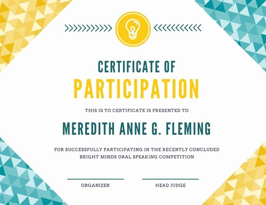 Sample Certificate Of Participation Template Elegant Customize 1 965 Certificate Templates Online Canva