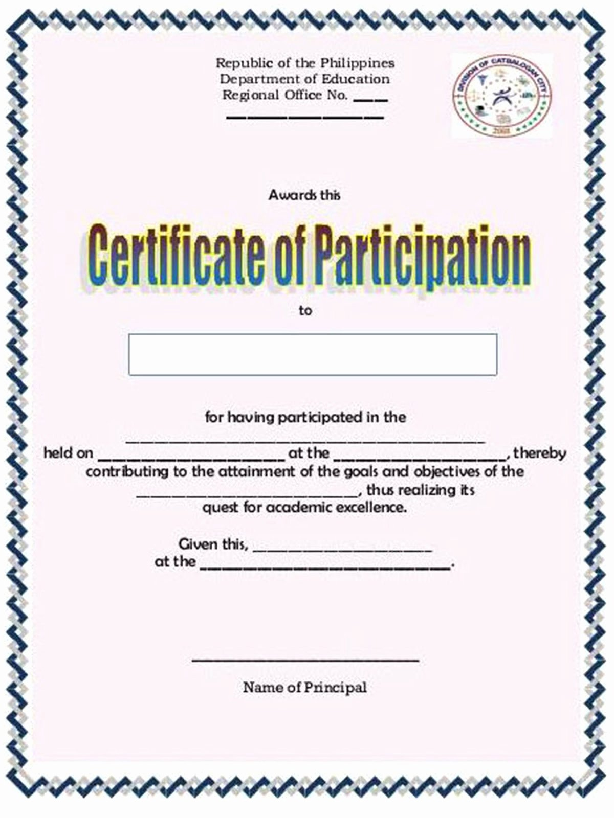 "Sample Certificate Of Participation Template New Search Results for ""h Extremo 2015 Ivonne Montero"