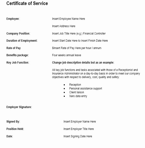 Sample Certificate Of Service Awesome Job Certificate Template 7 thoughts You Have as Job