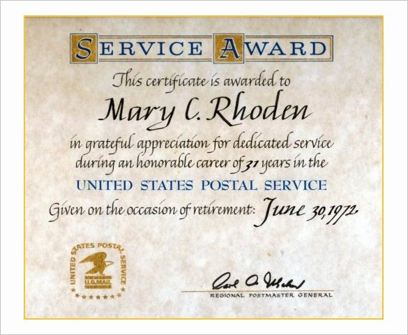 Sample Certificate Of Service Luxury Sample Certificate Recognition Years Service