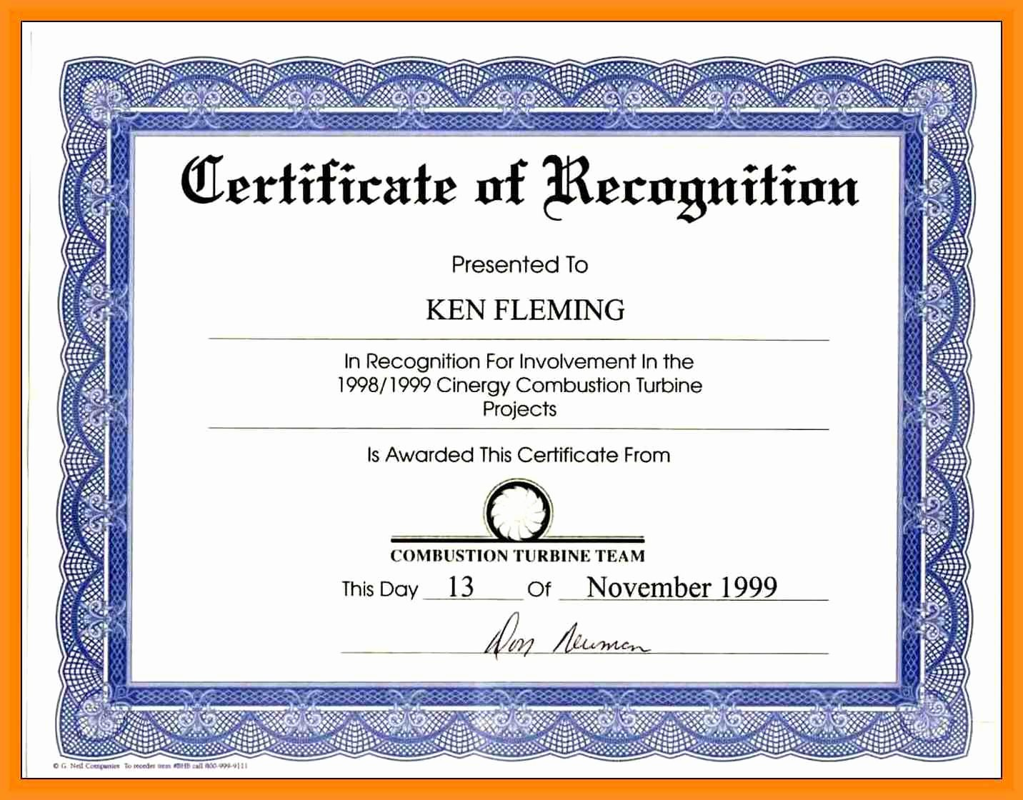 Sample Certification Of Service Beautiful Munity Service Award Wording