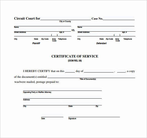 Sample Certification Of Service Best Of Sample Certificate Of Service Template 20 Documents In