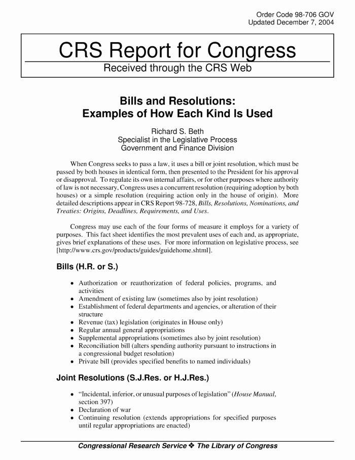 Sample Congressional Bill Inspirational Bill Examples Congress