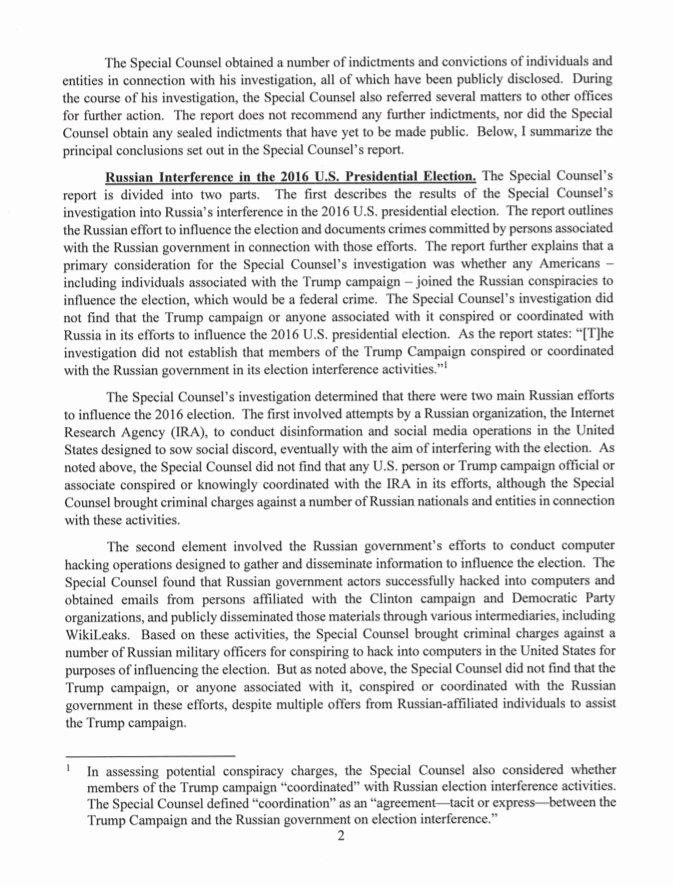 Sample Congressional Bill Unique Full Letter Ag Bill Barr Releases Letter Summarizing