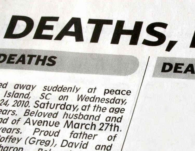 Sample Death Announcements Unique Death Notice Templates and Obituary Templates