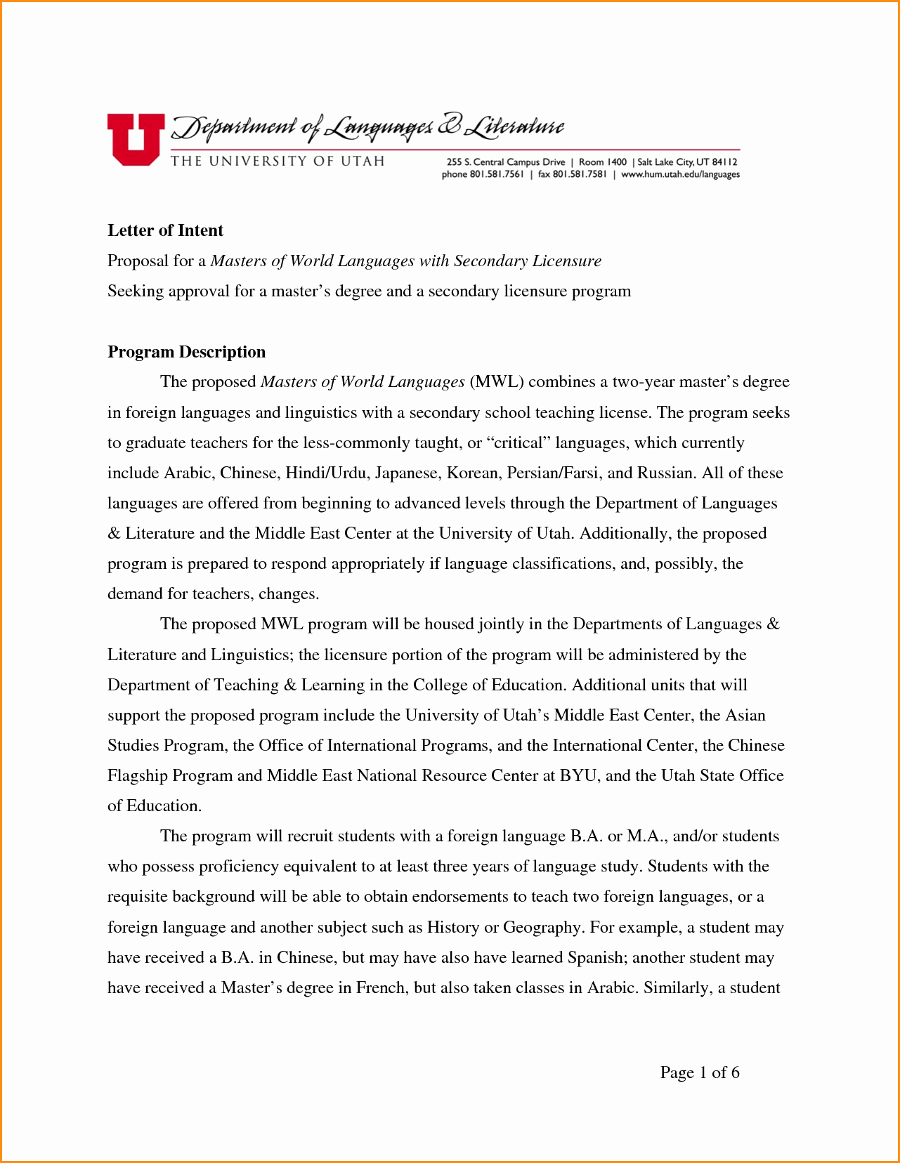 Sample Graduate School Letter Of Intent Fresh Letter Intent Grad School – Emmamcintyrephotography