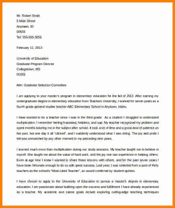 6 graduate school letter of intent