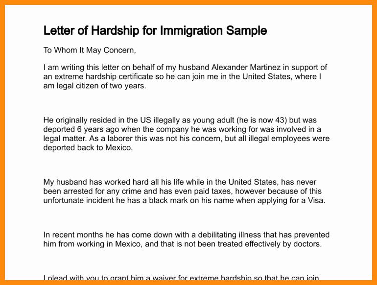 Sample Immigration Letter Of Support Unique Immigration Letter Support for A Family Member