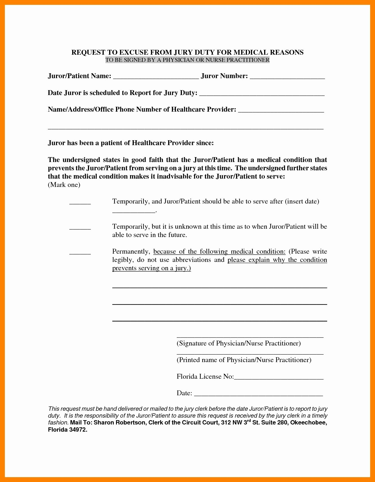 Sample Jury Excuse Letter Beautiful Jury Duty Medical Excuse Letter Template Samples