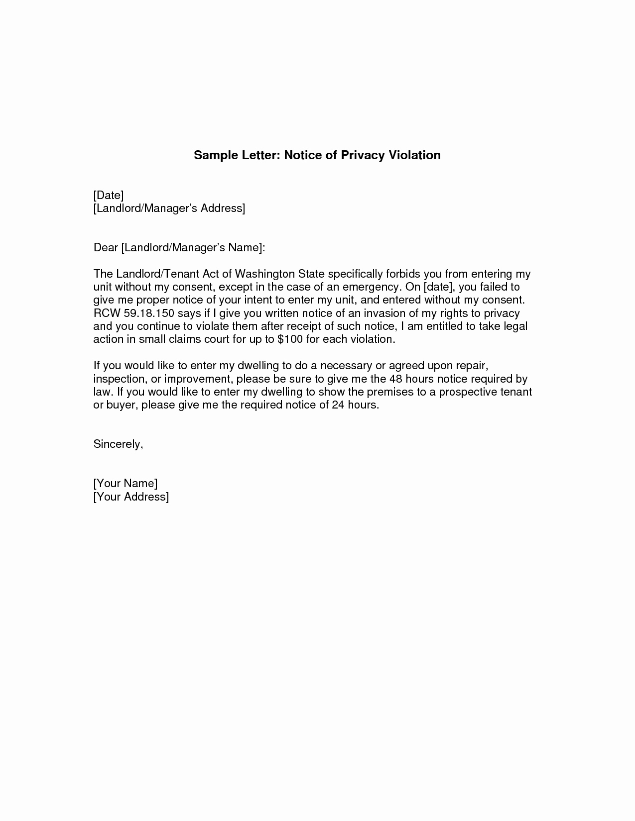 Sample Landlord Letters to Tenants Beautiful Giving Notice to Landlord Letter Tenant Notice to End