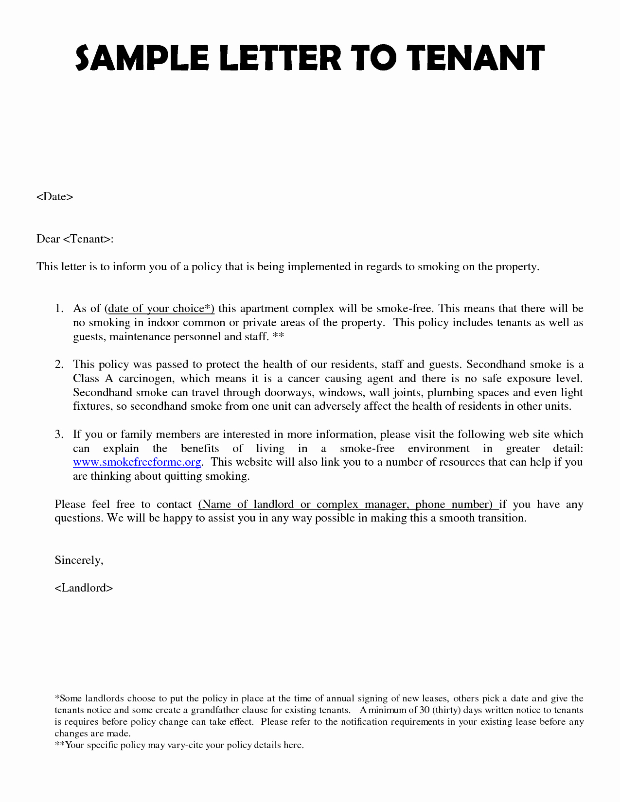 Sample Landlord Letters to Tenants Best Of Best S Of New Tenant Notice Letter Template Lease
