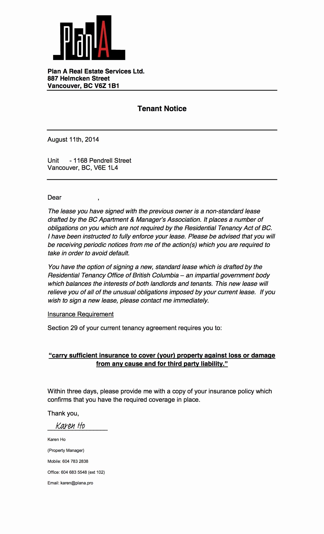 Sample Landlord Letters to Tenants Best Of Greedeviction 1168pendrell