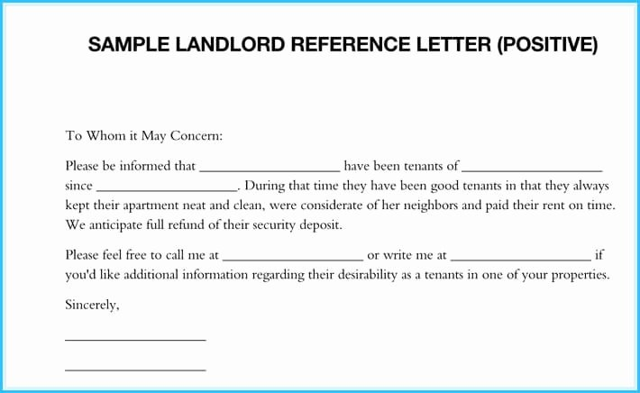 Sample Landlord Letters to Tenants Elegant Landlord Reference Letter 5 Samples What is It & How