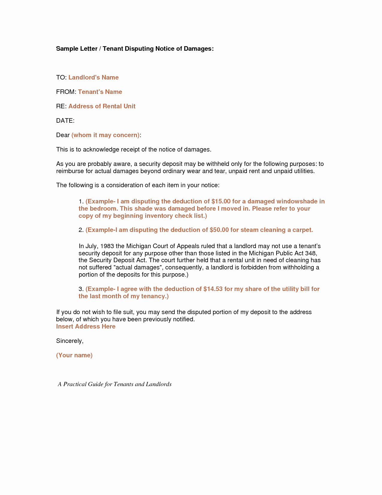 Sample Landlord Letters to Tenants Fresh Best S Of Tenant Notice Letter for Repairs Tenant