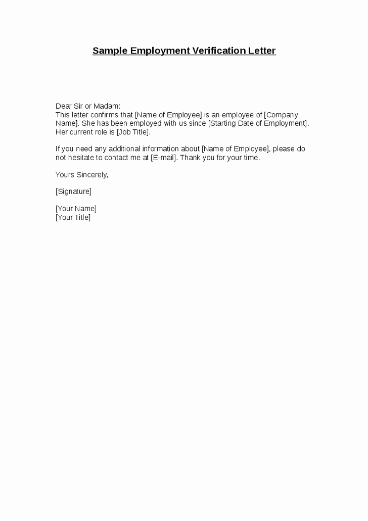 Sample Letter Confirming Unemployment Elegant Employment Confirmation Letter Template Doc