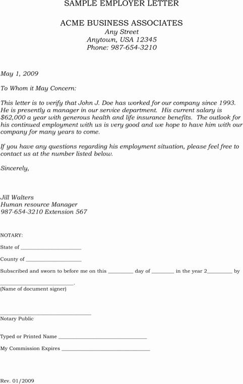 Sample Letter Confirming Unemployment Unique Download Sample Employment Verification Letter for Free