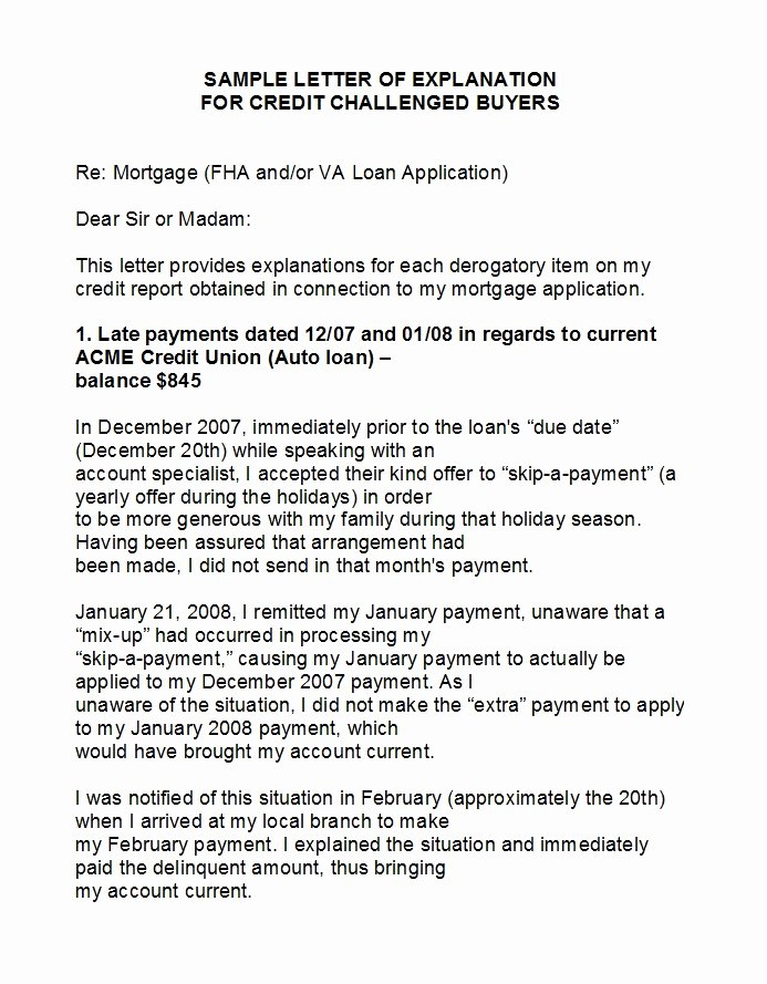 Sample Letter Of Explanation for Late Payments On Credit Report Awesome 10 Delinquent Account Letter