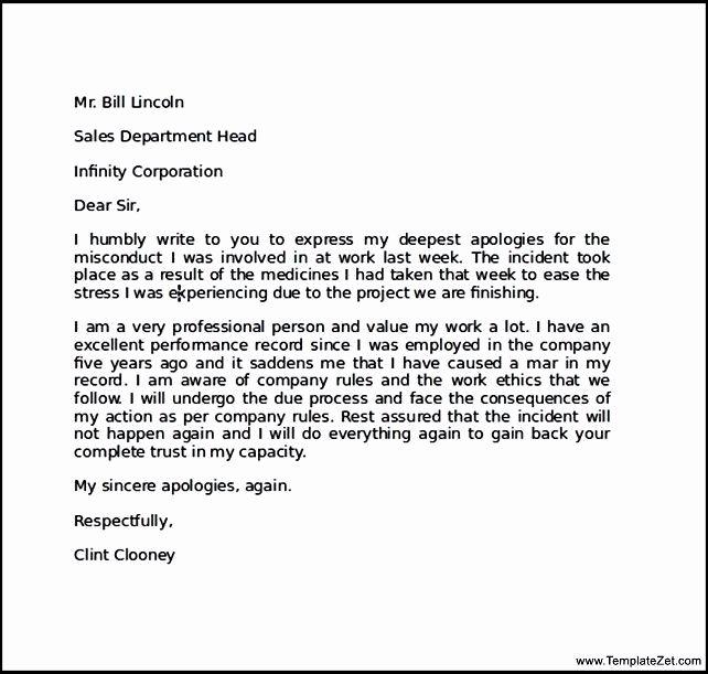 Sample Letter Of Explanation for Mistake Elegant Apology Letter for Mistake to Boyfriend Sle