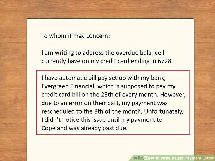 Sample Letter Of Late Payment Explanation Inspirational How to Write A Late Payment Letter 9 Steps with