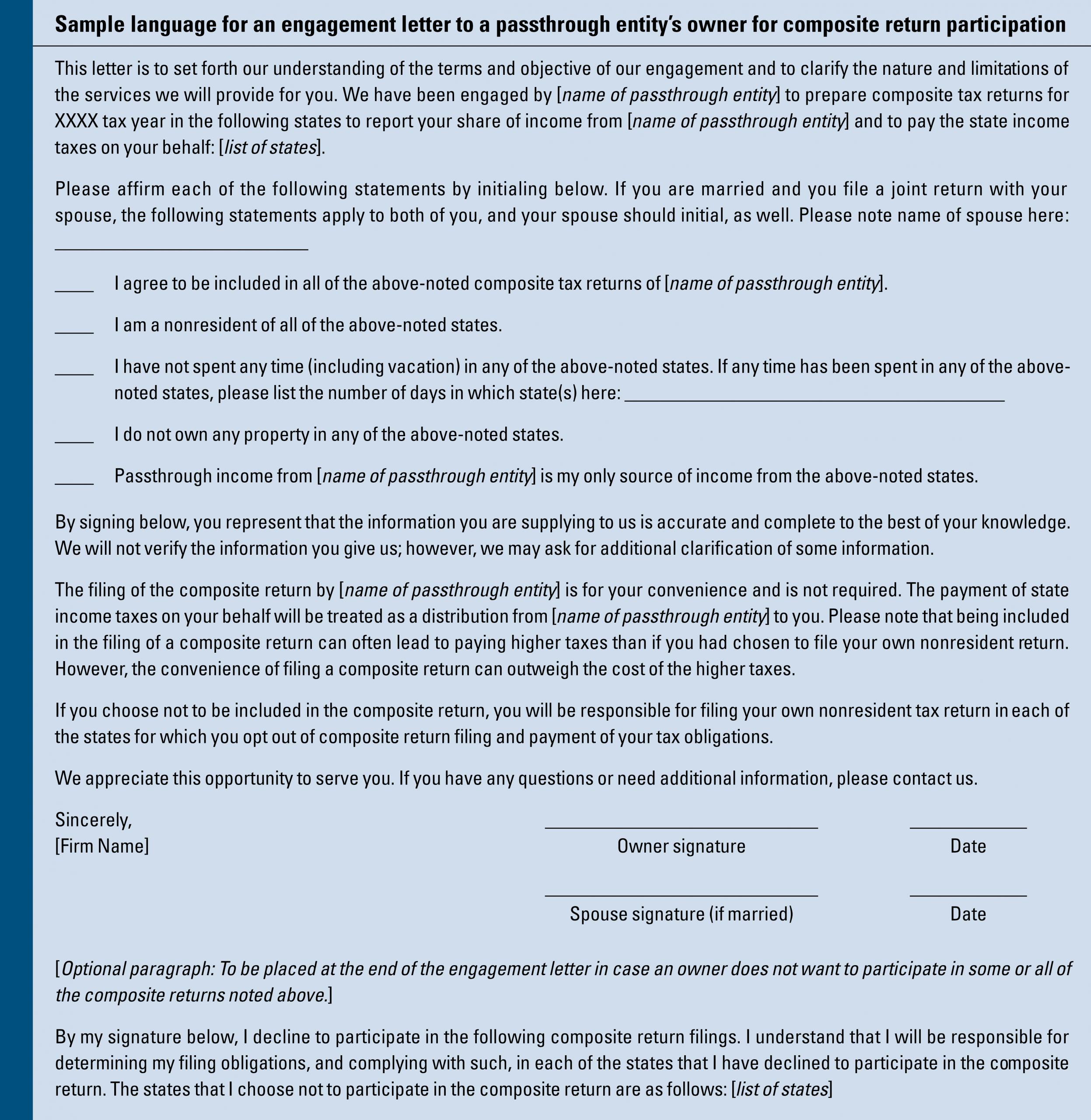 Sample Letter Of Representation Fresh Considerations for Filing Posite Tax Returns