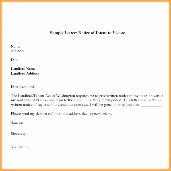 Sample Letter to Landlord for Moving Out Beautiful Sample Letter to Vacate Apartment to Tenant Nice Apartement