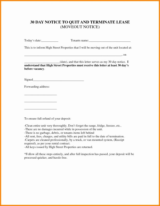 Sample Letter to Landlord for Moving Out Best Of Lease Termination Letter Landlord to Tenant