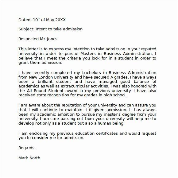 Sample Letters Of Intent Grad School Inspirational Letter Of Intent Graduate School 9 Download Documents