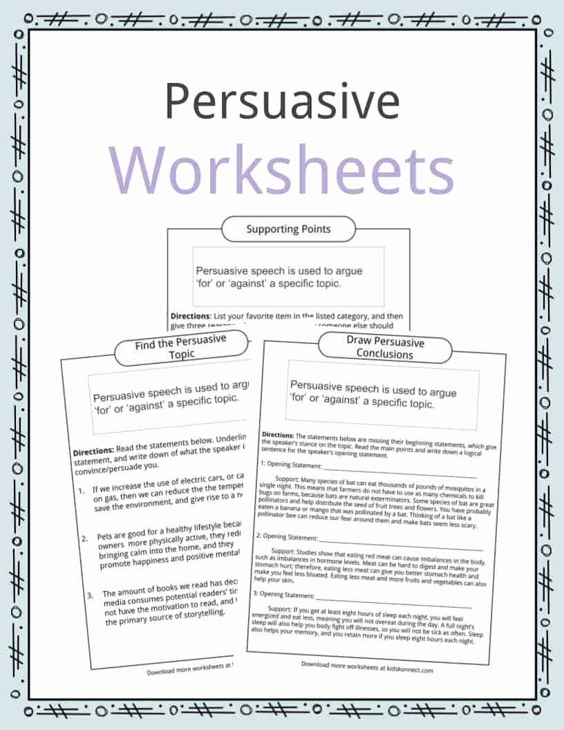 Sample Of A Persuasive Speech Fresh Persuasive Speech topic Examples Worksheets & Facts for Kids