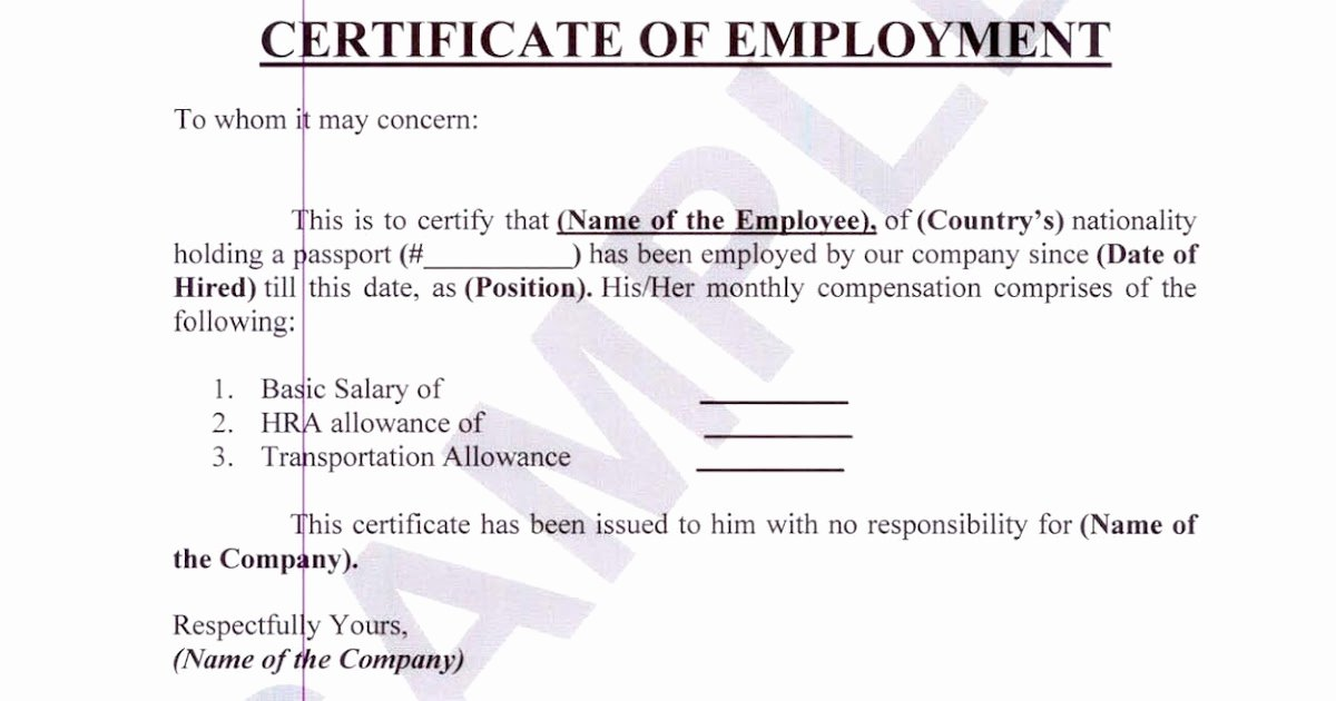 Sample Of Certificate Of Employment Beautiful Money Business People Travel and Pleasure Certificate