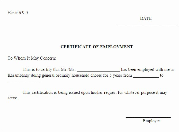 Sample Of Certificate Of Employment Luxury 40 Employment Certificates Pdf Doc